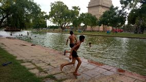 India gate canal, delhi royalty free stock images