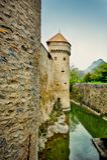 Chillion城堡,瑞士 库存照片