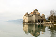 Chillion Castle on Lake Geneva Stock Photos