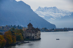 Chillion Castle. This is a photo of Chillion castle in Switzerland Royalty Free Stock Images