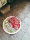 chillis和茄子 图库摄影