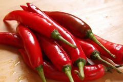 Chillis frescos Fotografia de Stock Royalty Free