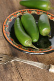 Chillis verde Foto de Stock