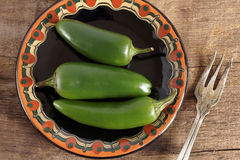 Chillis verde Foto de Stock Royalty Free