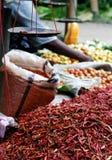 chillisförsäljning Arkivfoto