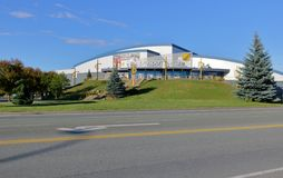 Chilliwack和BC Prospera中心 库存图片