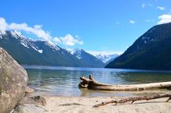Chilliwack湖在冬天 免版税库存图片