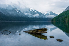 The Chilliwack Lake in the Chilliwack Lake Provincial Park royalty free stock image