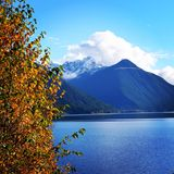 Chilliwack lake. In the fall Stock Image