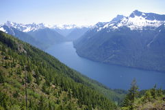 Chilliwack Lake in North Cascades. On the border between USA and Canada Royalty Free Stock Photos