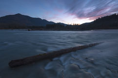Chilliwack Light. The Chilliwack river at sunset Stock Photos