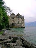 Chillon城堡在蒙特勒,瑞士 免版税图库摄影