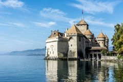 Chillon城堡 图库摄影