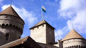 Chillon塔楼 免版税库存照片