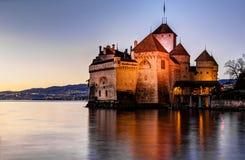 chillon Швейцария замока Стоковое Изображение