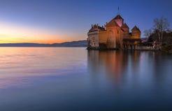 chillon Швейцария замока Стоковое Изображение RF