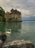 Chillon castle. On Geneva lake Stock Photos