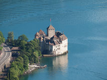 Chillon Castle from above Stock Image