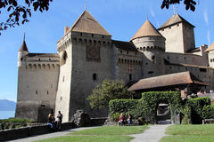 Chillon Castle. Chateau de Chillon Royalty Free Stock Image