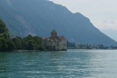Chillon castle. Chillon on lake Geneva near Montreux stock photo