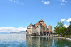 Chillon Castle at Geneva lake Royalty Free Stock Images