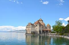 Chillon Castle at Geneva lake royalty free stock images