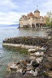 Chillon Castle at Geneva lake Stock Photos