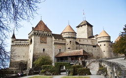 Chillon castle, Geneva lake, Switzerland Royalty Free Stock Photo