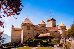 Chillon castle, Lake Geneva near Montreux, Switzerland royalty free stock photos