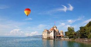 The Chillon Castle at Lake Geneva in Switzerland Stock Images