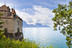 Chillon Castle in the Leman Riviera Royalty Free Stock Image