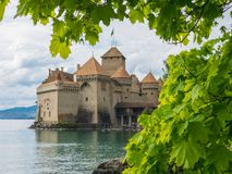 Chillon Castle - The medieval fortress Stock Image