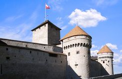 Chillon castle in Montreux Royalty Free Stock Photography