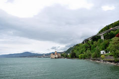 The Chillon castle in Montreux. Stock Photos