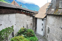 The Chillon castle in Montreux Stock Image