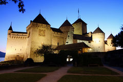 The Chillon castle in Montreux, Switzerland royalty free stock photography