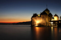 The Chillon castle in Montreux, Switzerland royalty free stock images