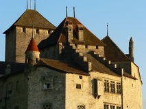Chillon castle, Montreux ( Switzerland ). Picture of Chillon Castle on Lake Geneva Stock Photography