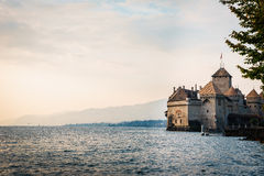 The Chillon castle in Montreux, Switzerland. Stock Photography