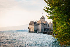 The Chillon castle in Montreux, Switzerland. Stock Photos