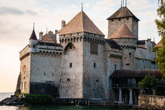 The Chillon castle in Montreux, Switzerland. Stock Images