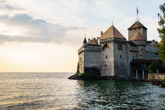 The Chillon castle in Montreux, Switzerland. Royalty Free Stock Photos