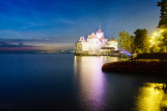 The Chillon castle in Montreux, Switzerland. Royalty Free Stock Image