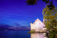 The Chillon castle in Montreux, Switzerland. Royalty Free Stock Images