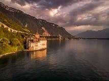 Chillon castle Switzerland stock photo