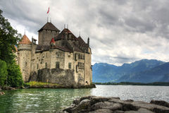 Chillon Castle, Switzerland (HDR) Stock Photos