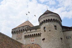 Chillon castle in Switzerland Stock Photography