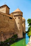 Chillon castle walls and towers Royalty Free Stock Photos