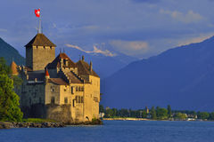 chillon de montreux Швейцария замка Стоковое Фото