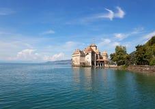 Chillon kasztel przy Jeziorny Genewa w Szwajcaria Obraz Royalty Free